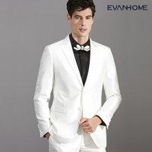 艾梵之家 新款修身白色西服套装男结婚宴会礼服西装两件套EVXF152