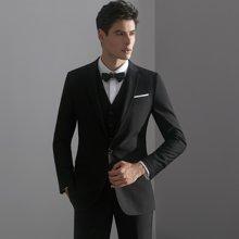 艾梵之家 男士西服套装商务修身款西装三件套男士职业正装EVXF140