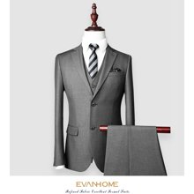 艾梵之家 商务修身男士西服两件套职业西装套装小西装外套evxf138