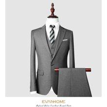 艾梵之家 免烫修身西服套装男正装商务职业装西装三件套EVXF142