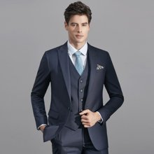 艾梵之家 西服套装男士正装新郎结婚伴郎礼服修身商务西装EVXF134