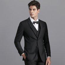 艾梵之家 新郎西服套装礼服商务修身款黑色小西装正装外套EVXF136