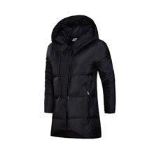 李宁中长款羽绒服女士运动时尚保暖80%白鸭绒运动服AYMM124
