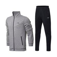 李宁运动套装男士新款训练系列开衫卫衣卫裤加绒保暖秋冬季运动服