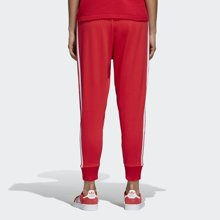 Adidas三叶草 杨幂同款 18新款红色针织收脚长裤 CY5841