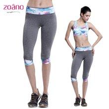 佐纳(ZOANO) 女子夏季修身瑜伽运动七分裤休闲透气跑步健身裤
