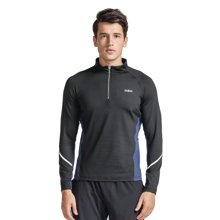 Zoano/佐纳 新款修身运动跑步长袖T恤男高弹力吸湿排汗防风保暖