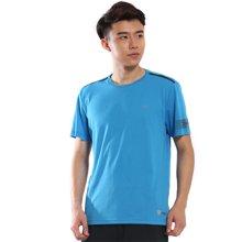 德尔惠2017年夏季新款男品牌运动T恤男圆领短袖休闲速干透气上衣22610126