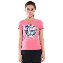 德尔惠女装夏季运动T恤新款舒适透气修身休闲运动短袖女上衣62620160