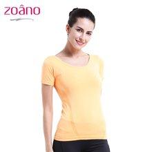 佐纳(ZOANO) 夏季 女款 瑜伽跑步健身服 宽松透气吸湿排汗显瘦 速干运动短袖T恤