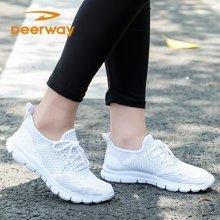 运动鞋男夏季德尔惠网面透气男女鞋休闲鞋夏学生韩版情侣鞋慢跑鞋 T23713311