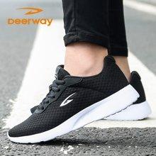 德尔惠男女运动鞋跑步鞋网面夏季时尚舒适耐磨情侣鞋旅游鞋 T23713345