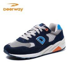 德尔惠运动鞋男秋冬季新款跑步鞋透气男鞋复古慢跑鞋潮旅游男跑鞋T71814523