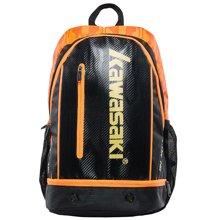 KAWASAKI川崎 专业羽毛球拍包大容量手提包旅行包斜跨包休闲包运动包中性球包KBB-8257黑桔