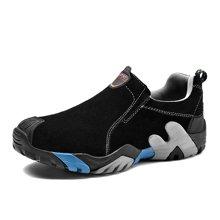 乐嘉途春季男鞋户外登山鞋棉鞋男大码徒步鞋防滑耐磨户外鞋子加绒不加绒可选L2052