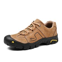 乐嘉途男鞋户外登山鞋男防滑减震户外鞋低帮耐磨徒步鞋透气鞋子男L2061