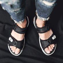 乐嘉途男鞋男凉鞋2018夏季新款韩版潮流个性休闲学生户外运动百搭越南沙滩鞋X828