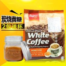 马来西亚 怡保炭烧SUPER/超级炭烧黄糖低糖白咖啡 540G (36g*15)