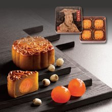 香港奇华双黄白莲蓉月饼进口月饼白莲蓉港式礼盒装740克4入