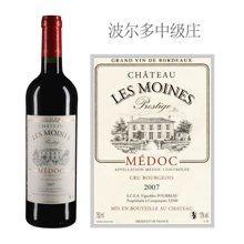 法国波尔多中级庄 修道士城堡红葡萄酒 2007年