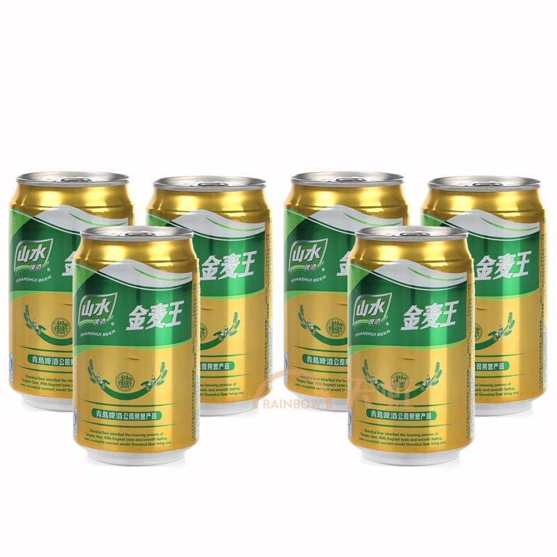 青岛山水金麦王啤酒(330ml)