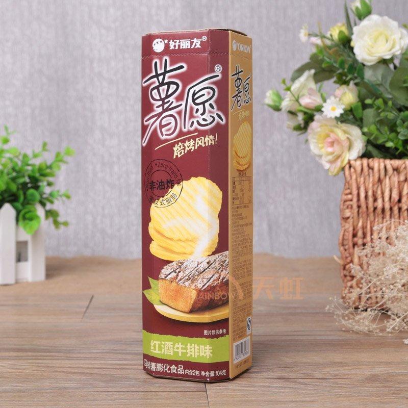 好丽友薯愿薯片(红酒牛排味)cd1(104g)