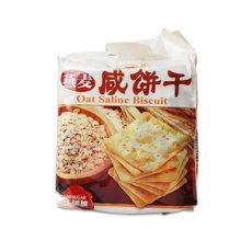 华班燕麦咸饼干400g 早餐休闲零食无糖饼干忌糖人燕麦饼干零食品