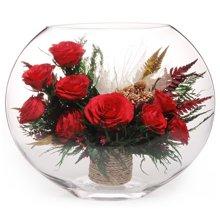 玫瑰花园/红----进口保鲜花,红玫瑰9枝,不凋谢真空玫瑰花