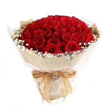 心上人----红玫瑰66枝,满天星围绕