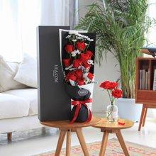 浪漫告白----卡罗拉红玫瑰11枝、白色小雏菊4枝