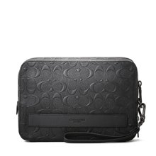 COACH/蔻驰女包 手提包公文包 奢侈品 女包  黑色 手拿包 93544