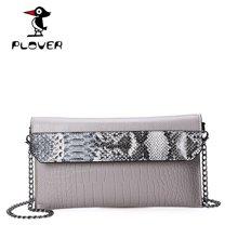 啄木鸟 Plover欧美时尚手拿包晚装包鳄鱼纹手腕包新款斜挎单肩女包信封包 P16302L157T