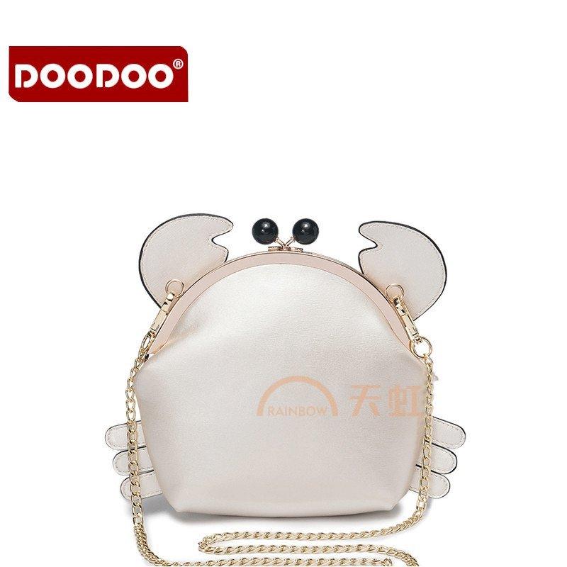doodoo 新款迷你链条包女斜挎包韩版单肩包可爱小包包