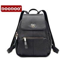 DOODOO 新款双肩包女小背包学院风简约韩版休闲旅行包6029