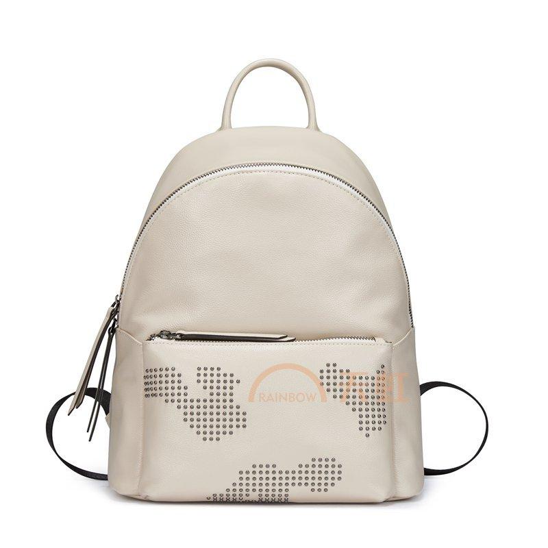 老人头2017新款时尚休闲学生包简约旅行背包双肩包965图片