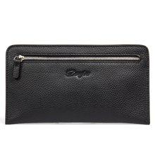 丹爵(DANJUE)新款男包商务休闲手拿包头层牛皮男士手包时尚薄款钱包卡包 D8096