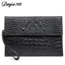 丹爵(DANJUE)鳄鱼纹牛皮大尺寸手抓包 夹包男士手拿包休闲手包 D8208-1