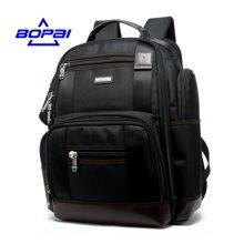 博牌 商务休闲双肩包多口袋大容量男士背包多功能牛津布旅行电脑包85301