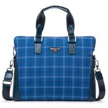 丹爵(DANJUE)男包布料包休闲手提包单肩斜挎包男士布包潮酷8722-1
