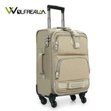狼域尼龙箱包拉杆箱20寸24寸万向轮帆布旅行箱津布行李箱软箱