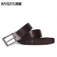 Kaiser凯撒男士皮带 真皮商务休闲腰带男士腰带 针扣式皮带送男友3139902103A