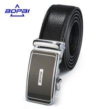 博牌 男士皮带自动扣商务皮带扣时尚黑色韩版头层牛皮腰带713-001661
