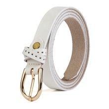 海谜璃(HMILY)时尚光面女士皮带 二层牛皮针扣腰带 多色可选女士腰链 H68