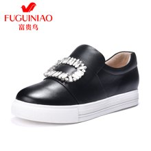 富贵鸟女鞋单鞋 女平底松糕鞋乐福鞋女 休闲鞋 R79B538C