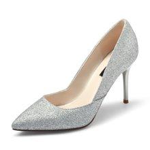 honeyGIRL新款女鞋性感高跟鞋细跟社交鞋女单鞋尖头婚鞋TMHG17FA102XT216