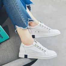 OKKO秋季内增高女鞋小白鞋新款百搭韩版单鞋厚底休闲学生白板鞋X99151