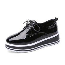 西瑞休闲鞋女韩版镜面雕花小单鞋增高女鞋松糕鞋MN1701