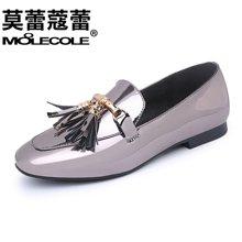 莫蕾蔻蕾2018新款女鞋百搭妈妈鞋低跟平跟休闲鞋韩版单鞋平底鞋ml6c099