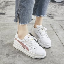 OKKO鞋子女2018新款夏季小白鞋厚底休闲透气镂空韩版运动鞋板鞋女LP830-22
