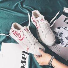 西瑞新款休闲鞋女时尚刺绣帆布鞋小白鞋潮流板鞋MNA109